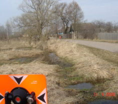 Инженеры Меридиан Тверь на замере участка Тверская область Калининский район Полупустошь все работы произведены